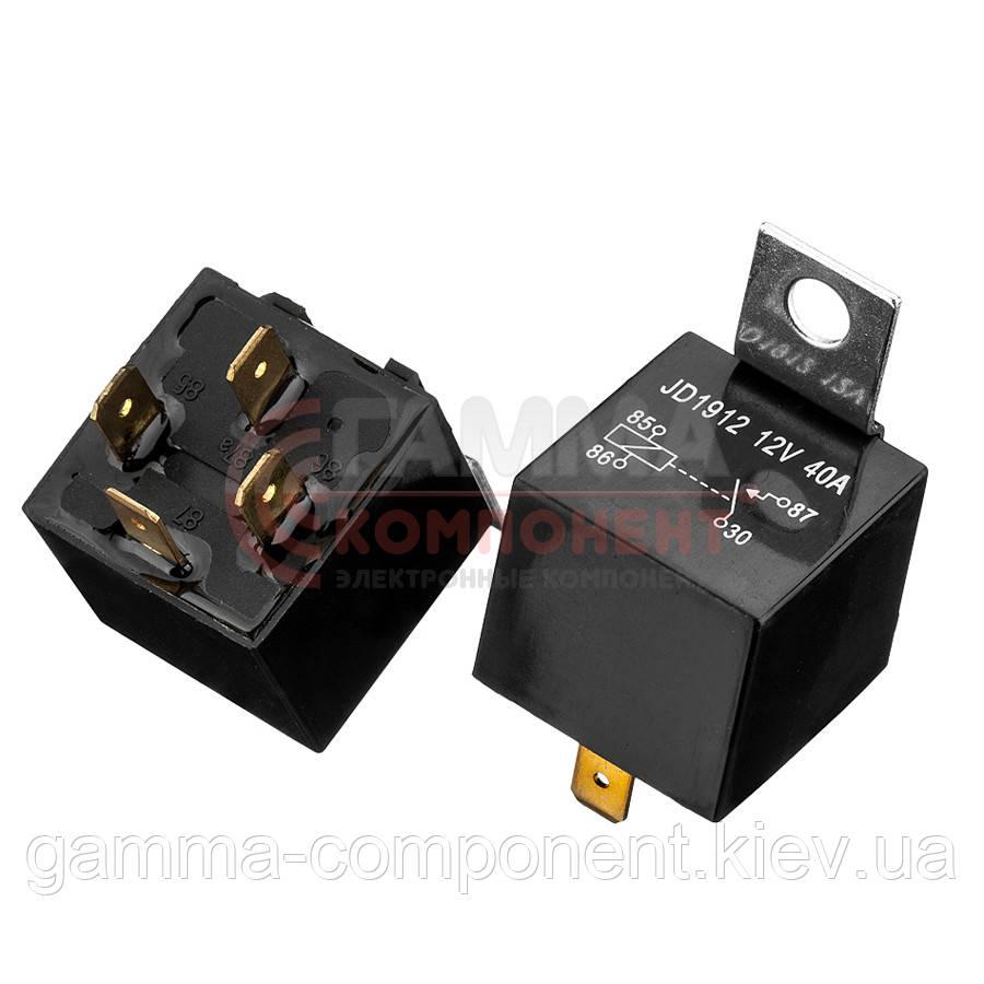 Реле JD1912, 40А, 12VDC/ контакты-1U