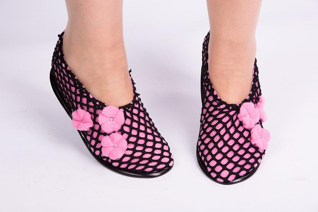 Тапочки носочки Поляна цветов Размер 18 - 45