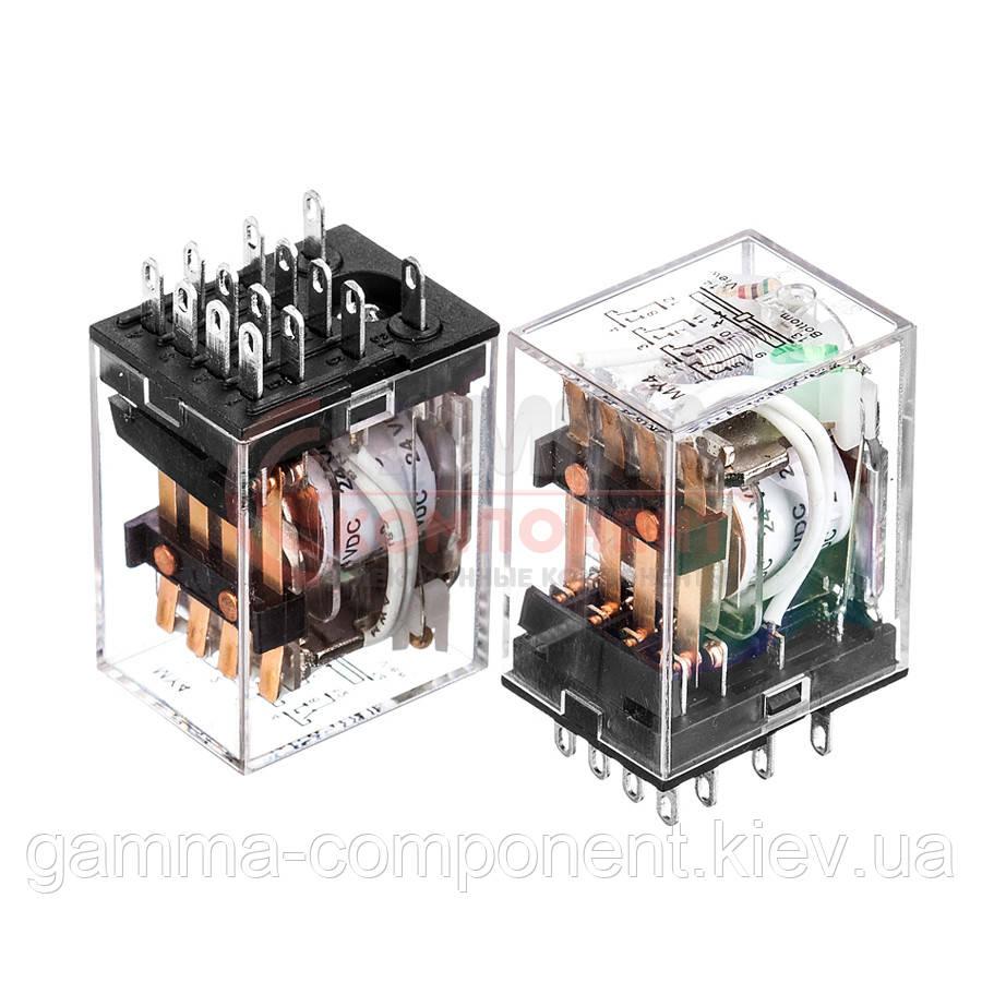 Реле HH54P, 7А, 220VDC/ контакты-4С