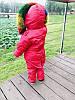 Детский комбинезон, Красный, Цветной мех, фото 5