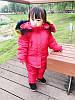 Детский комбинезон, Красный, Цветной мех, фото 6