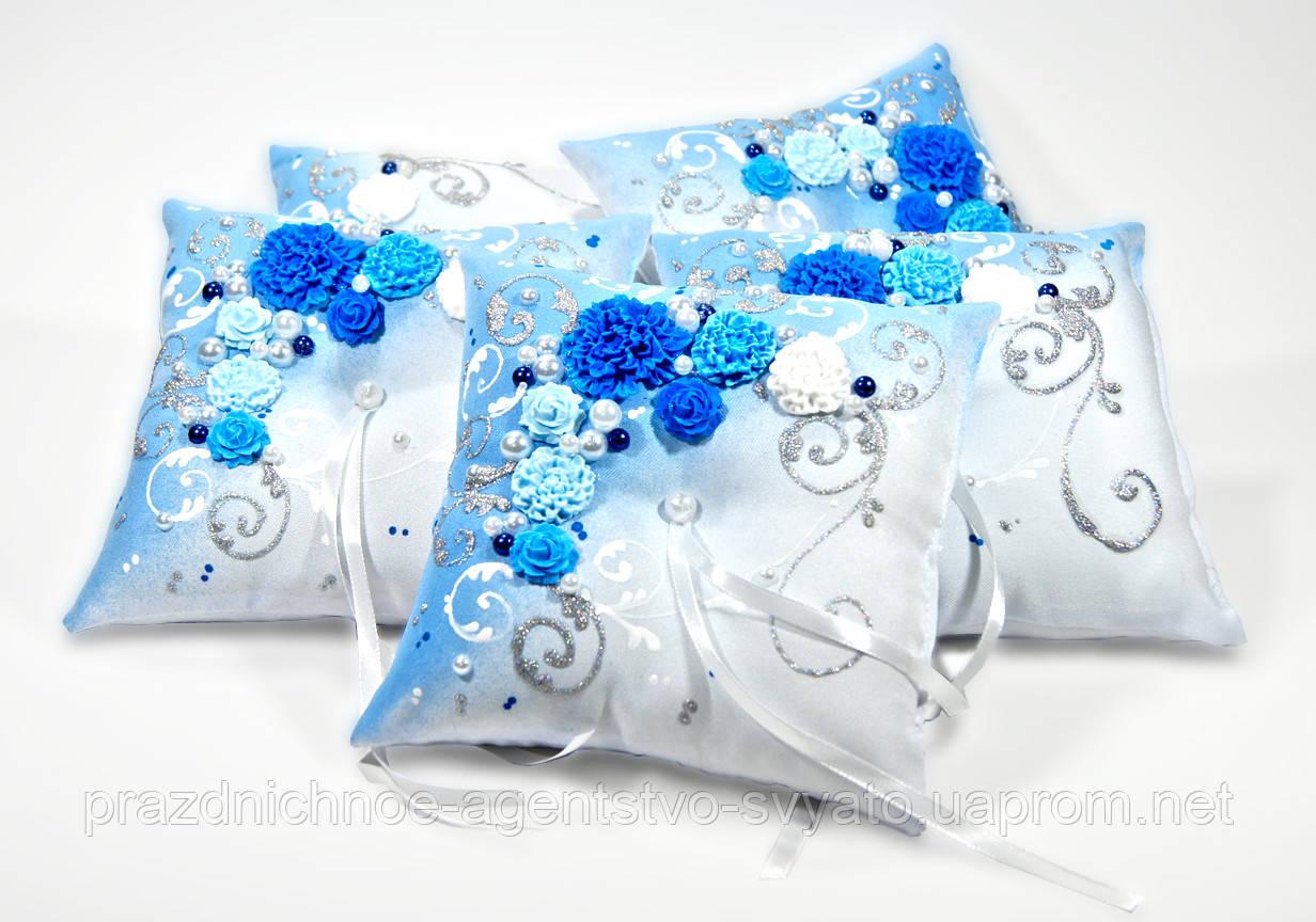 Подушечки для колец (синяя)