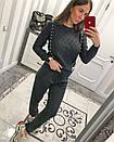 Женский вязаный костюм с жемчугом 33ks819, фото 3