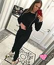 Женский вязаный костюм с жемчугом 33ks819, фото 4