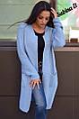 Вязаный женский кардиган из полушерсти с карманами 7pk152, фото 2
