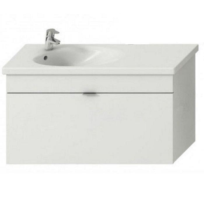 Jika Tigo Мебельный комплект (умывальник с отв. под смеситель слева+ тумба), цвет белый 1000 x 370 x 520