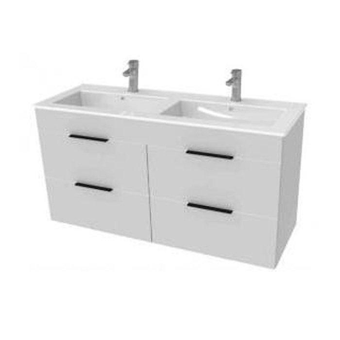 Jika Cube Мебельный комплект (умывальник + тумба), цвет белый 1160 x 422 x 607 арт.4536621763001