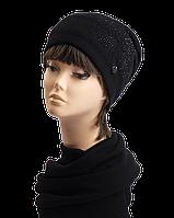 Комплект шапка и шарф Марта стразы, фото 1