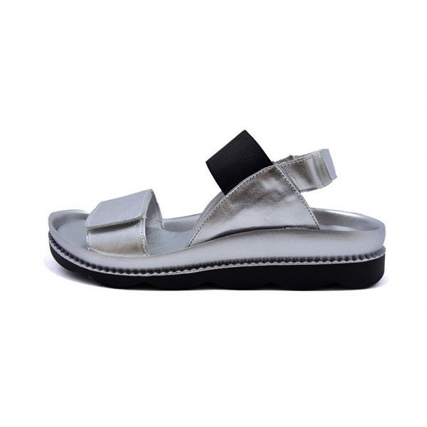 Сандалии кожаные Ditas V022 Silver Black