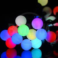 Уличная LED RGB гирлянда, длина 10 м, 50 многоцветных LED RGB шаров, с коннектором для удлинения цепи