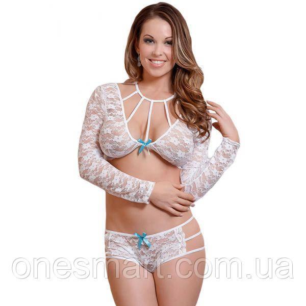 Белое кружевное женское белье