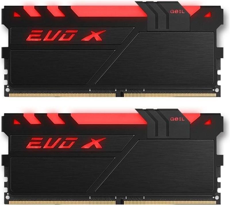 Модуль памяти DDR4 2x16GB/2400 Geil EVO X Black RGB LED (GEXB432GB2400C16DC)