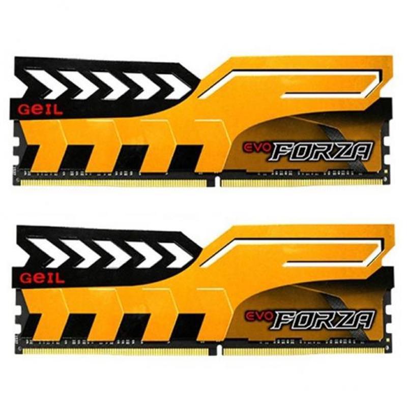 Модуль памяти DDR4 2x4GB/2400 Geil EVO Forza Yellow (GFY48GB2400C16DC)