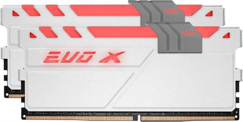 Модуль памяти DDR4 2x8GB/2400 Geil EVO X White RGB LED (GEXG416GB2400C16DC)