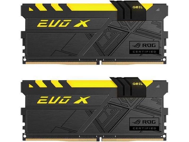 Модуль памяти DDR4 2x8GB/3000 Geil EVO X ROG Black RGB LED (GREXR416GB3000C15ADC)