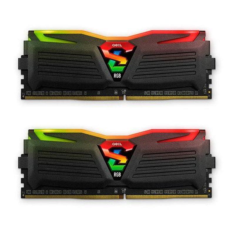 Модуль памяти DDR4 2x8GB/3200 Geil Super Luce Black RGB LED (GLC416GB3200C16ADC)
