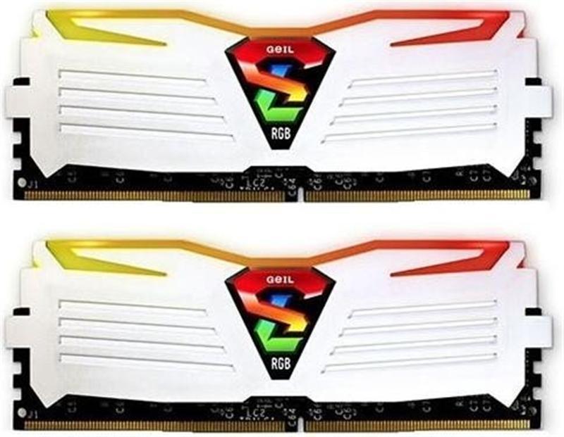 Модуль памяти DDR4 2x8GB/3200 Geil Super Luce White RGB LED (GLWC416GB3200C16ADC)