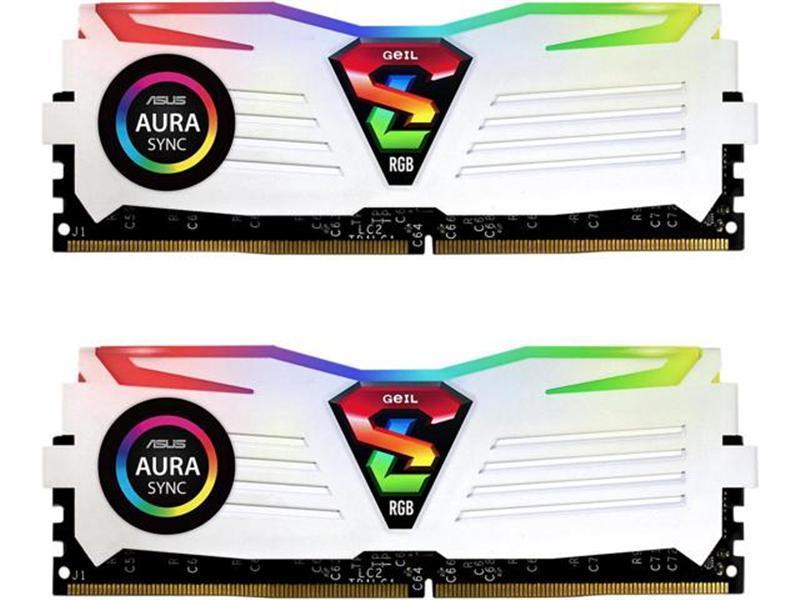 Модуль памяти DDR4 2x8GB/3200 Geil Super Luce White RGB Sync LED (GLWS416GB3200C16ADC)