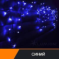 "Новогодняя гирлянда 120 led ""Бахрома""/Icicle/наружная/голубой"