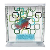 Аквариум Hagen 13352 д/петушка Betta Kit Geo Bubbles 2л белый