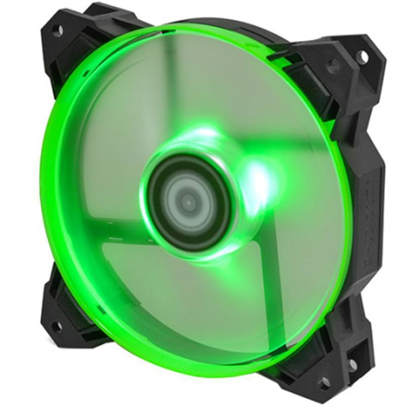 Вентилятор ID-Cooling SF-12025-G, 120x120x25мм, 4-pin PWM, черный с зеленым