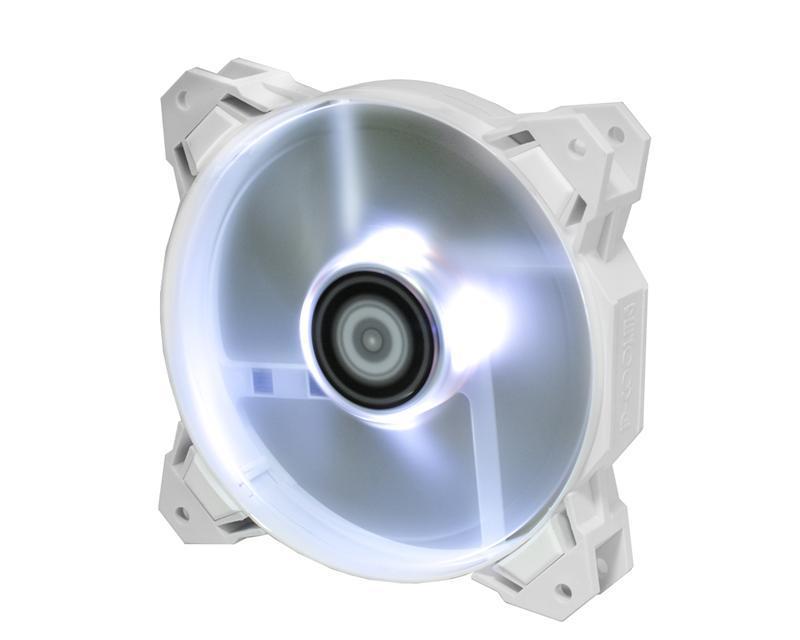 Вентилятор ID-Cooling SF-12025-W, 120x120x25мм, 4-pin PWM, белый