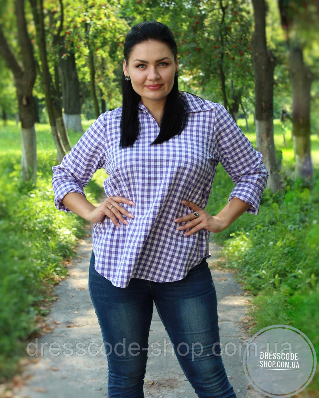 73847b817a9 Женская Рубашка в Клетку в Сиреневых Тонах — в Категории