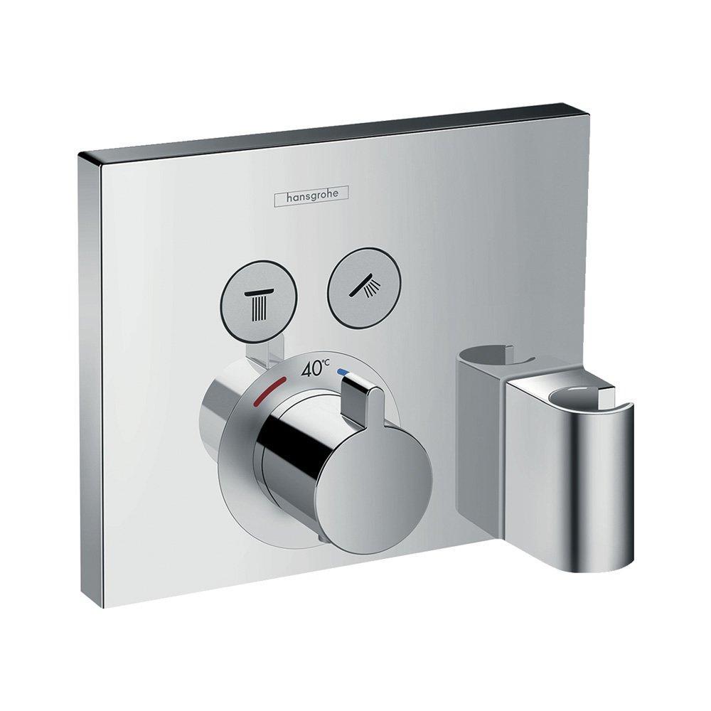 Hansgrohe Термостат для душа ShowerSelect для двух потребителей, стеклянный, СМ арт.15765000
