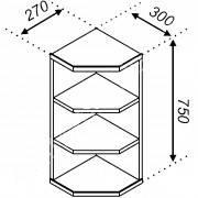 Верхняя угловая секция Тера В30Кз