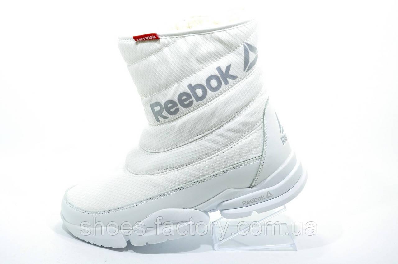 Белые спортивные сапоги в стиле Reebok, Зимние