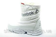 Белые спортивные сапоги в стиле Reebok, Зимние, фото 3