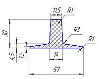 Шеврон для конвейерной ленты 30мм