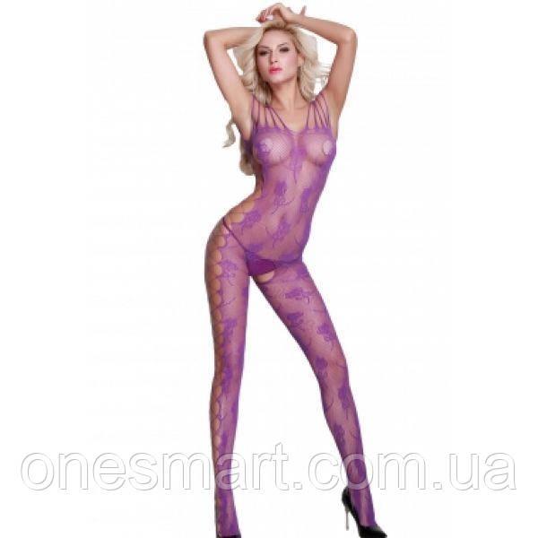 Пурпурный откровенный комбинезон