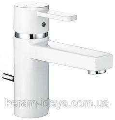 Смеситель для умывальника белый Kludi Zenta XL 382609175