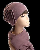 Комплект шапка и шарф Роза, фото 1