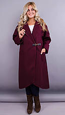 Женское пальто-кардиган больших размеров. черный. размеры:50,52,54,60,64, фото 3