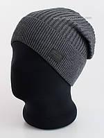 Удлиненная шапка с отворотом Chicago F Unix серая