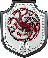 Настенный герб Noble Collection Game of Thrones Игра престолов Targaryen Dragon House Дом Таргариен  BL63