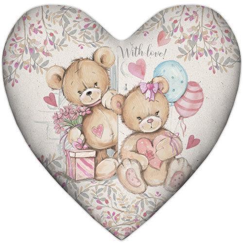 Подушка сердце With love 37х37 см (4PS_18L026)