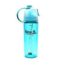Спортивная бутылка для воды с распылителем New. B – 600 мл бирюзовый