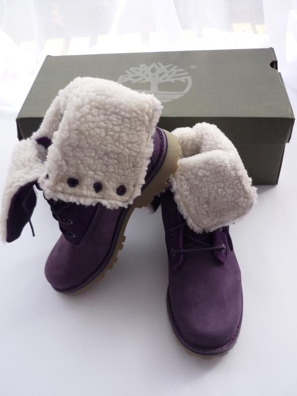 Стильные замшевые ботинки Timberland Youth Jeunes (США) (Размер 1.5US - 20,5 см)