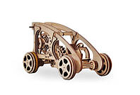 3D деревянный сборный механический конструктор Wood Trick Багги