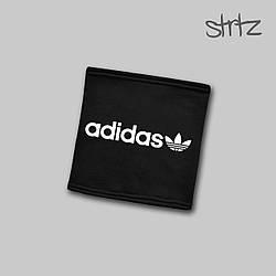 Теплый горловик Adidas черного цвета  (люкс копия)