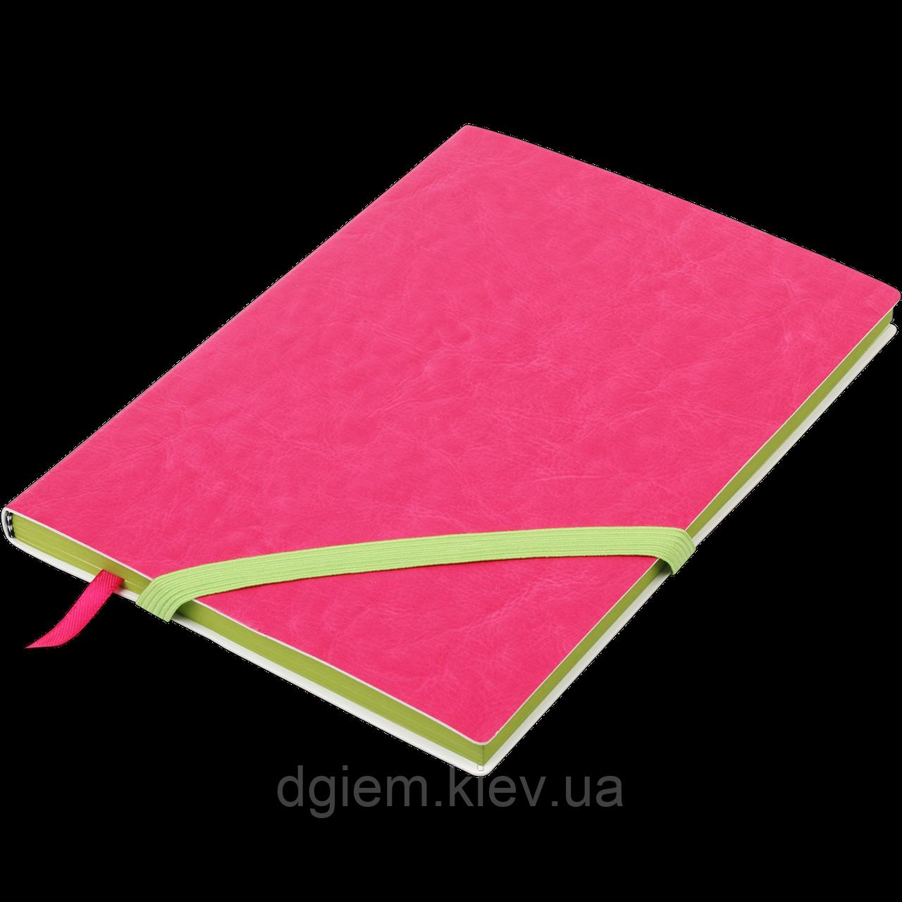 Блокнот ділової LOLLIPOP А5 96арк. лінія, що позов. шкіра, рожевий