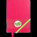 Блокнот ділової LOLLIPOP А5 96арк. лінія, що позов. шкіра, рожевий, фото 2