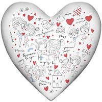 Подушка сердце Кохання це про 37х37 см (4PS_18L013)