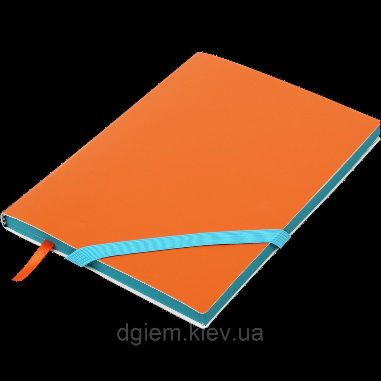 Блокнот деловой LOLLIPOP А5 96л.линия, иск. кожа, оранжевый