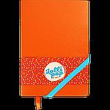 Блокнот деловой LOLLIPOP А5 96л.линия, иск. кожа, оранжевый, фото 2
