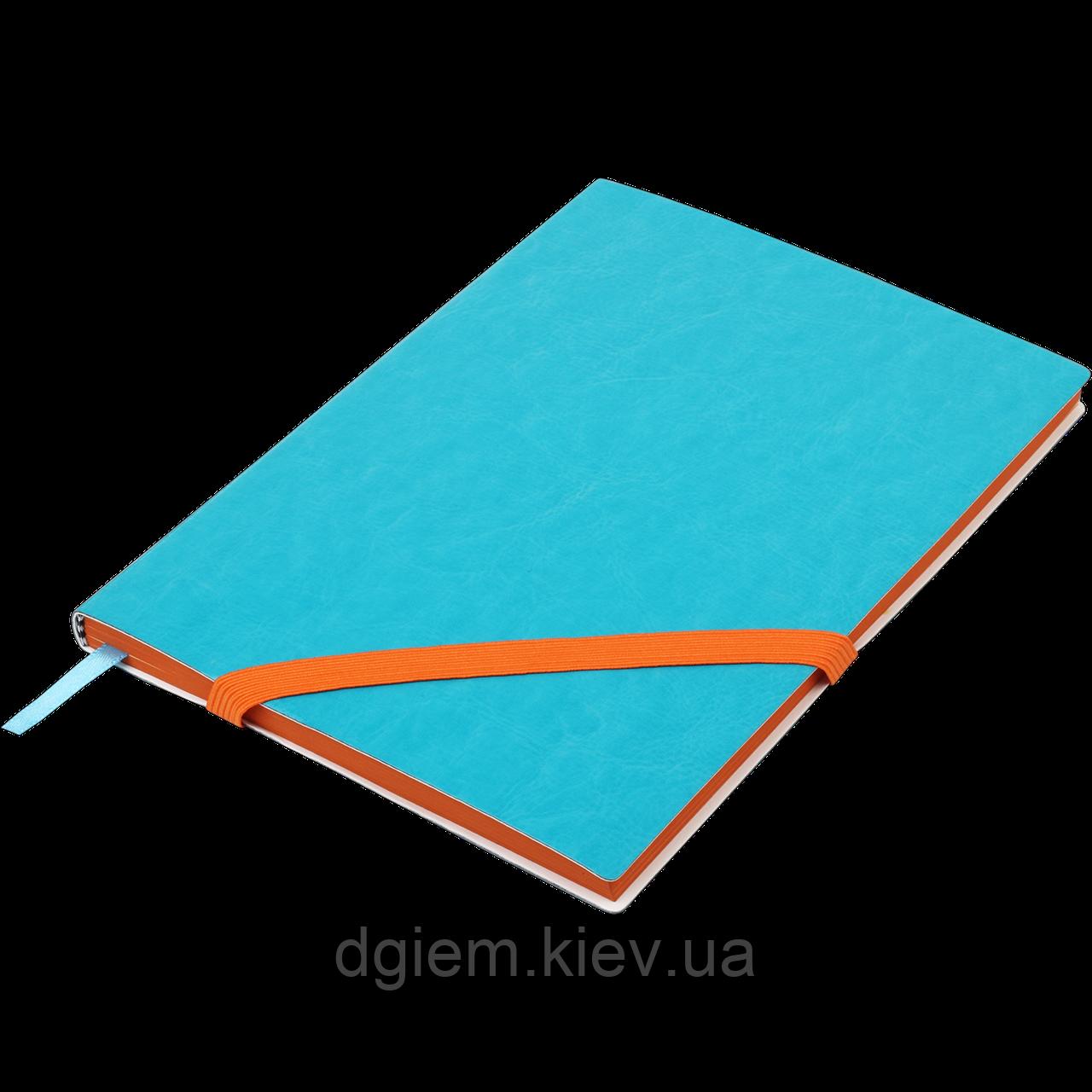 Блокнот деловой LOLLIPOP А5 96л. линия, иск. кожа, голубой