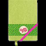 Блокнот ділової LOLLIPOP А5 96арк. лінія, що позов. шкіра, салатовий, фото 2